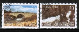 CEPT 2001 CY MI 976-77 USED CYPRUS - Europa-CEPT