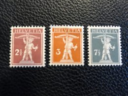 Schweiz 1915/17 Zumstein-Nr. 136 * Ungebraucht Mit Falz Und 137 Und 138 ** Postfrisch - Suisse