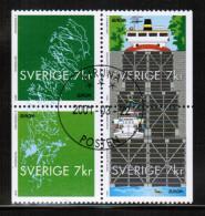 CEPT 2001 SE MI 2232-35 USED SWEDEN - Europa-CEPT
