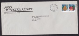 USA: Cover Dulles To Netherlands, 1995, 2 Stamps, Fruit, Pear, Peach, Healthy Food (traces Of Use) - Etats-Unis