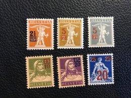 Schweiz 1920/21 Zumstein-Nr. 146-148 ** Ungebraucht Und 149-151 ** Postfrisch - Kompletter Satz - Suiza