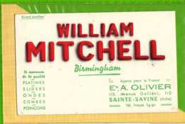 Buvard & Blotting Paper : William MITCHELL  Ets A OLIVIER  Sainte Savine Aube - Elektrizität & Gas