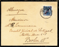 PORTUGAL MOURNING COVER TO BERLIN - 1910 : D.Manuel II
