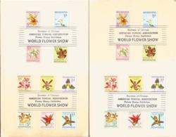 J) 1959 NICARAGUA, SOUVENIR OF CHICAGO AMERICAN TROPICAL ASSOCIATION FLOWER STAMP EXHIBITION WORLD FLOWER SHOW, MULTIPLE - Nicaragua