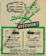 Ancienne Publicité (1959) : CARAVANES VISCOUNT, Si Vous Pensez Vacances... Pensez Caravane - Publicités