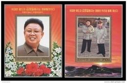 North Korea 2011 Mih. 5843/44 (Bl.830/31) Kim Jong Il Will Live For Ever MNH ** - Corée Du Nord