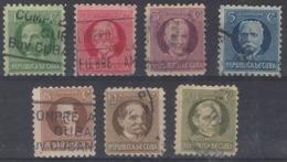 Cuba U  184/189 (o) Usado. 1925 - Cuba