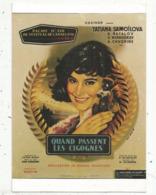 Cp, Affiche De Cinéma  , Film ,QUAND PASSENT LES CIGOGNES  ,festival De Cannes , Palme D'or 1958 ,vierge - Affiches Sur Carte
