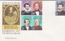 Grande Bretagne FDC 1977 Sir Francis Drake - 1971-1980 Em. Décimales