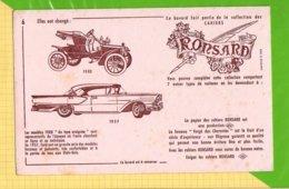 BUVARD & Blotting Paper : Collection De Cahiers Ronsard N°6 Le Modele Ford Voitures Calais - Automobile