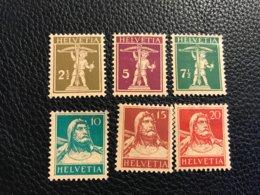 Schweiz 1927/28 Zumstein-Nr. 169-174 * Ungebraucht Mit Falz - Suisse
