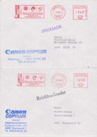 ALLEMAGNE, 5 EMA Différentes Villes, CANON Sponsor Officiel De La Coupe Du Monde De Football 1982, 1981 - 1982 – Espagne