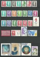 FRANCE: Obl., N° P2614 à 2675 + 2646a, 63 Tp, Année 1990 Complète Sans BF, Préo Et S., TB - Frankrijk