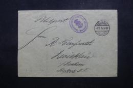 BELGIQUE / ALLEMAGNE - Enveloppe En Feldpost De Tournai Pour L 'Allemagne En 1914 - L 44141 - Esercito Tedesco