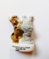 Fève Scoubidou Sculpteur BD Dessins Animés Chien - Cómics
