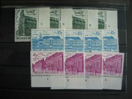 Belgique. 1769/71** Les 4  Nrs De Planche Complets. Patrimoine Architectural: Bruges - Namur - Bruxelles - Plate Numbers