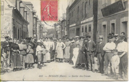 RUGLES (Eure) Sortie Des Usines (superbe Plan D'ouvriers Et D'ouvrières) - Autres Communes