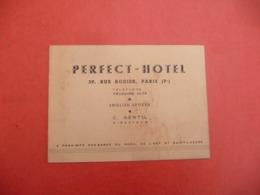 PERFECT - HOTEL 39 Rue Rodier Paris 9 - Cartes De Visite