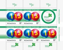 Romania 2019 / THE ROMANIAN LOTTERY, 113 YEARS OF LUCK / MS With Label - Giochi