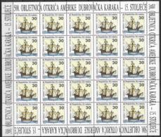 1992 Kroatien  Mi. 209-10** MNH  Europa: 500. Jahrestag Der Entdeckung Von Amerika - Europa-CEPT