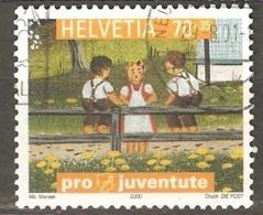 Switzerland: 1 Used Semi Postal Stamp, Children Worlds, 2000, Mi#1741 - Suisse