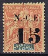 NCE - 15 C. Sur 40 C. Rouge-orange Neuf Signé Belleville TTB - Neukaledonien