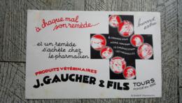 Buvard Produits Vétérinaires Gaucher Et Fils Tours 37 - Produits Pharmaceutiques