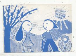 Cp, 79,jumelage De THOUARS-DIEPHOLZ ,1982; Héléne Perlet,école Maternelle Maligrettes,1 Er Prix Du Concours Dessin - Thouars