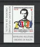 SOVERANO MILITARE ORDINE MALTA 2015 BICENTENARIO NASCITA DON BOSCO 1 V. MNH - Malta (la Orden De)