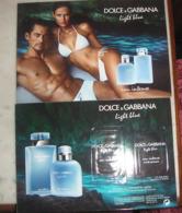 CP Light Blue Eau Intense De Dolce & Gabbana Avec Patchs Au Dos - Modern (from 1961)