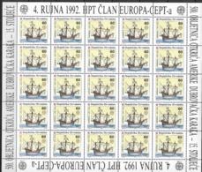 1992 Kroatien  Mi. 211-.12** MNH  Europa: 500. Jahrestag Der Entdeckung Von Amerika - Europa-CEPT