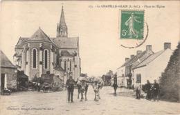 CPA La Chapelle Glain Place De L'Eglise 44 Loire Inférieure - France