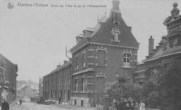 Fontaine-l'Evêque. Ecoles Des Filles Et Rue De L'Enseignement.  Scan - Fontaine-l'Evêque