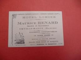 HOTEL LOHIER -  A Urville-Hague ( Manche - Visiting Cards