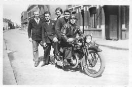 MOTOCYCLETTE  PHOTO ORIGINALE FORMAT 8.50 X 6 CM - Fotos