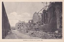 Explosion In Lille Am 11 Januar 1916 Feldpostkarte - Lille