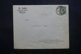 ALLEMAGNE - Enveloppe Commerciale De Wetzal En 1924 , Affranchissement Plaisant Perforé - L 44157 - Deutschland