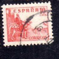 SPAIN ESPAÑA SPAGNA 1936 1940 EL CID CENT. 10c USED USATO OBLITERE' - 1931-Aujourd'hui: II. République - ....Juan Carlos I