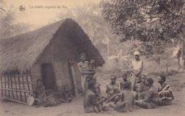 Congo Belge Le Matin Auprès Du Feu Circulée En 1923 - Congo Belge - Autres