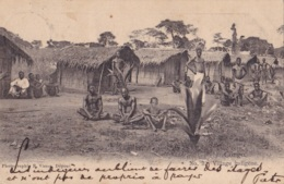 Congo Belge Village Indigène Circulée En 1903 - Congo Belge - Autres