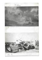AVION G3 FRANCAIS DETRUIT PAR LES ALLEMANDS FOKKER CARTE PHOTO AVIATION WW1 /FREE SHIPPING REGISTERED - Aviation