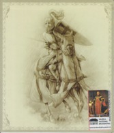 Romania - Sibiu - Brukenthal Museum - Medieval Chevalier In Armor, Unused, Size 150/128 Mm - Equipment