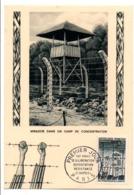 CARTE MAXIMUM 1964 20 ANS LIBERATION DES CAMPS - Cartoline Maximum
