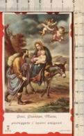 """Antico Santino Lega Eucaristica """"Gesù, Giuseppe, Maria - N.9372"""" - Religion & Esotérisme"""