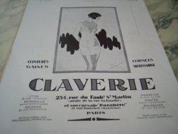 ANCIENNE PUBLICITE CORSET CEINTURE CLAVERIE  1932 - Vintage Clothes & Linen
