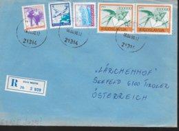 YOUGOSLAVIE  Lettre  Recommandée  1990 Avions Poste Oiseaux Hirondelle Bateaux - Post