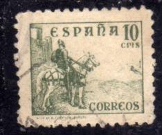 SPAIN ESPAÑA SPAGNA 1936 1940 EL CID CENT. 10c USED USATO OBLITERE' - 1931-50 Oblitérés