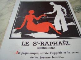 ANCIENNE PUBLICITE PIQUE NIQUE  ST RAPHAEL QUINQUINA  1932 - Posters