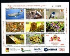 ECUADOR, 2018, BIRDS,REPTILES, SHARK, S/S, MNH** NEW!! - Birds