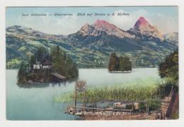 AB296 - SUISSE - Insel Schwanau - Lowerzersee - Blick Auf Seewen U. D. Mythen - SZ Schwyz